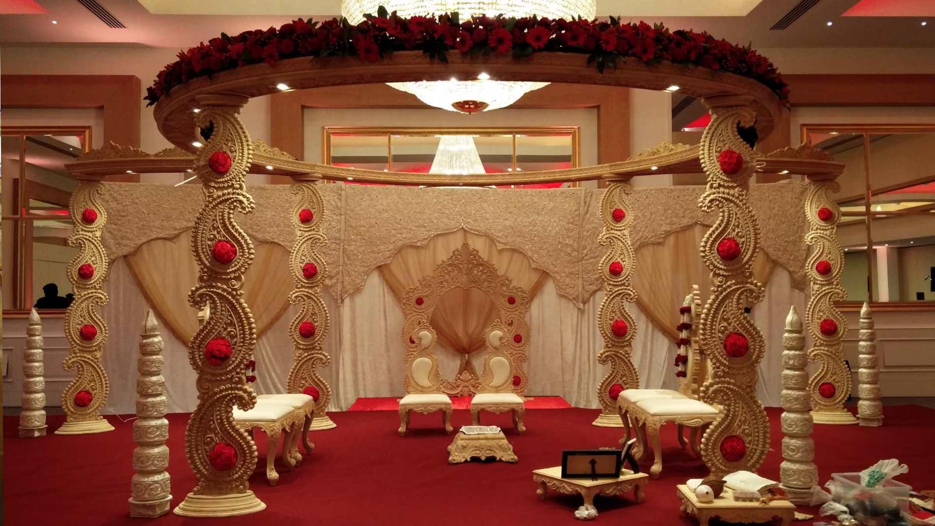 Pushpanjali beautiful wedding and reception decoration in south mandaps junglespirit Images